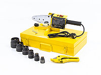Аппарат для сварки пластиковых труб компл насадок,20-63 мм DWP-1500, 1500Вт, утюг DENZEL 94205