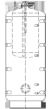 Бак ВТА/Н-2 2000/330 л