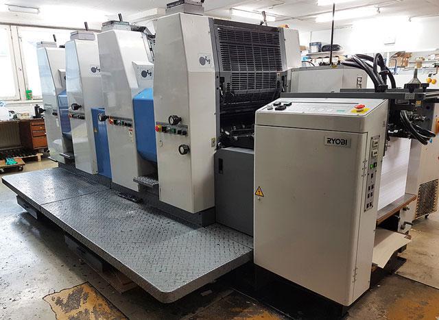 Ryobi 524HXX б/у 1999г - 4-красочная печатная машина