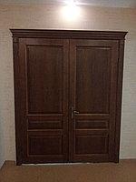 Дверь межкомнатная двухстворчатая с капителью