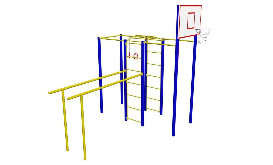 Гимнастический комплекс с баскетбольным щитом ГК-004