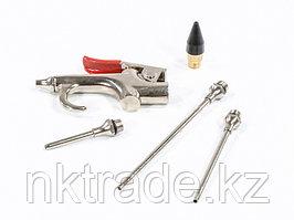 Набор продувочный пистолет, пневмат. в комплекте с насадками, 4 шт. MATRIX
