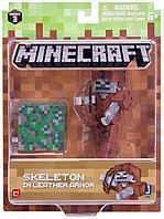 Minecraft Скелет в кожаном доспехе (7 см)