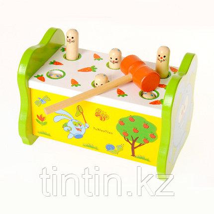 Деревянная игрушка стучалка - Смешарик, фото 2