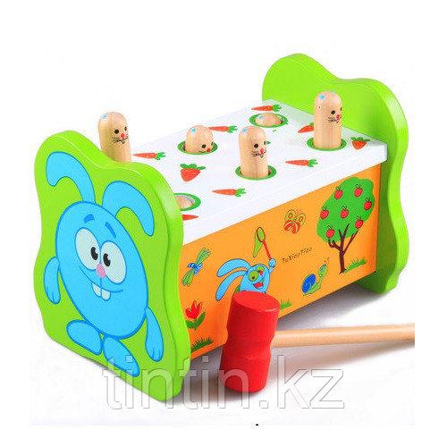 Деревянная игрушка стучалка - Смешарик