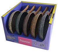 4279 FISSMAN Сковороды для жарки MONBLANE STONE 24x4,9 см  в выставочном стенде (алюминий с антипригарным покр