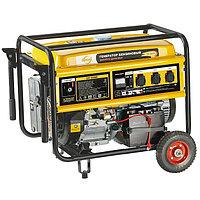 Генератор бензиновый GE 8900E, 8,5 кВт, 220В/50Гц, 25 л, электростартер DENZEL