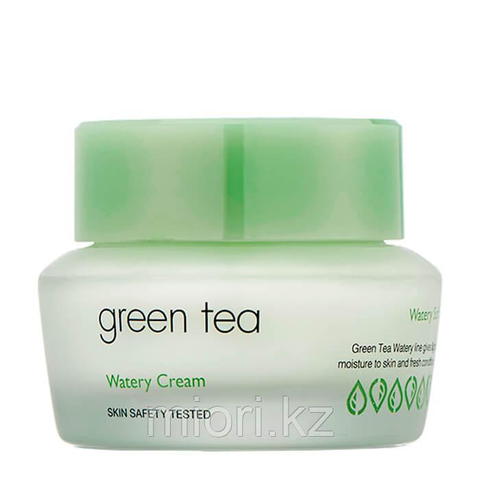 """Крем для жирной и комбинированной кожи """"Грин Ти"""" It's Skin Green Tea Watery Cream"""