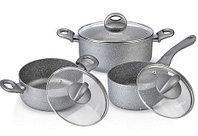 4401 FISSMAN Набор посуды 6 пр. MOON STONE (алюминий с антипригарным покрытием)