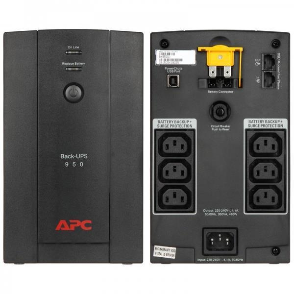 UPS APC/BX950UI/Back/Line Interactiv/AVR/IEC/950 VА/480 W