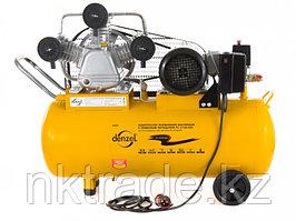 Компрессор PC 3/100-504, масляный, ременный, произв. 504 л/м, мощность 3 кВт DENZEL