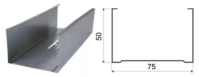 Профиль перегородочный ПС 75х50 0,6мм