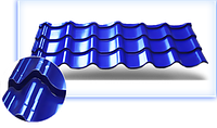 Металлочерепица профиль монтеррей покрытие полиэстр Ral 5005