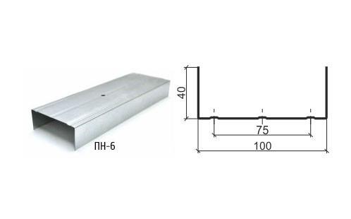 Профиль направляющий ПН 100х40 0,6мм