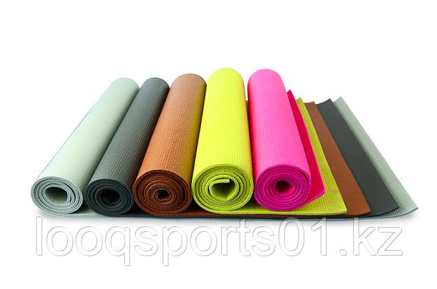 Коврик для йоги (йога мат,каремат) и фитнеса 173х61х0.5 (с сумкой) - фото 2