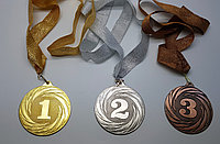 Медали металлические с лентой, фото 1