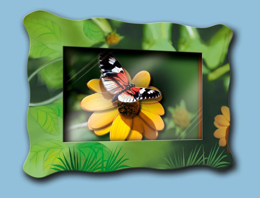 """Объемная картина """"Бабочка на цветке"""""""