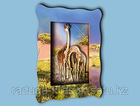 """Объемная картина """"Семья жирафов"""""""