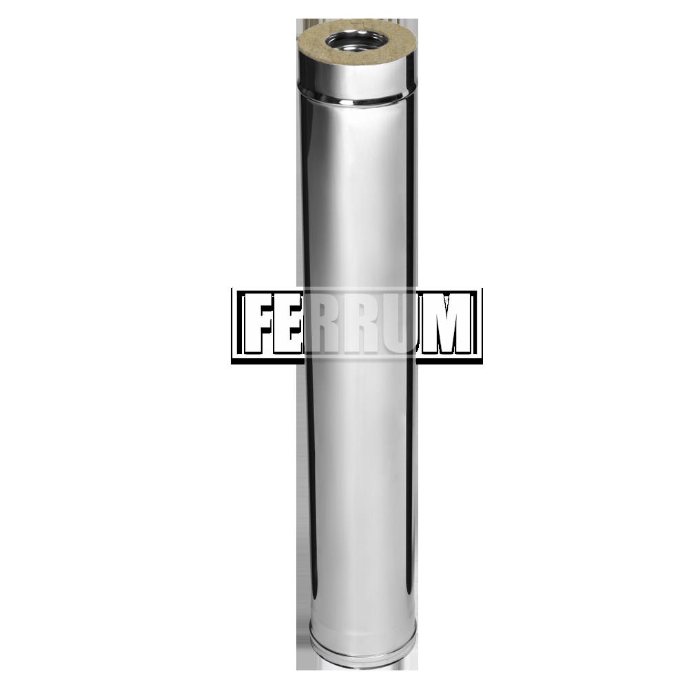 Дымоход Ferrum Сэндвич из нержавеющей стали 430/0,5 мм 1000мм, Ф200х280