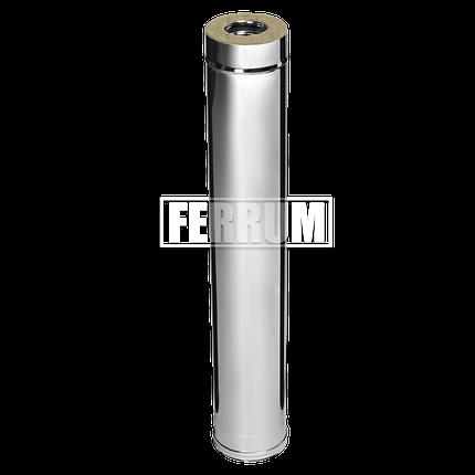 Дымоход Ferrum Сэндвич из нержавеющей стали 430/0,5 мм 1000мм, Ф200х280, фото 2