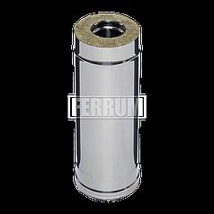 Дымоход Ferrum Сэндвич из нержавеющей стали 430/0,5 мм 500мм, Ф140х210