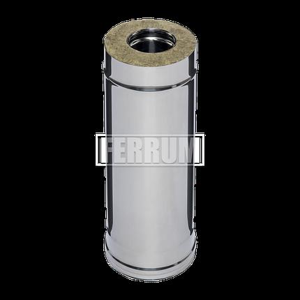 Дымоход Ferrum Сэндвич из нержавеющей стали 430/0,5 мм 500мм, Ф120х200, фото 2