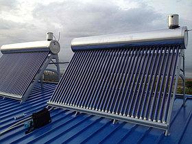 Установка солнечного водонагревателя объемом 600л для теплицы в г. Астана (пассивного типа) 1
