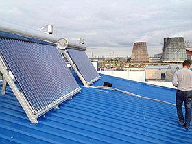 Установка солнечного водонагревателя объемом 600л для теплицы в г. Астана (пассивного типа) 3