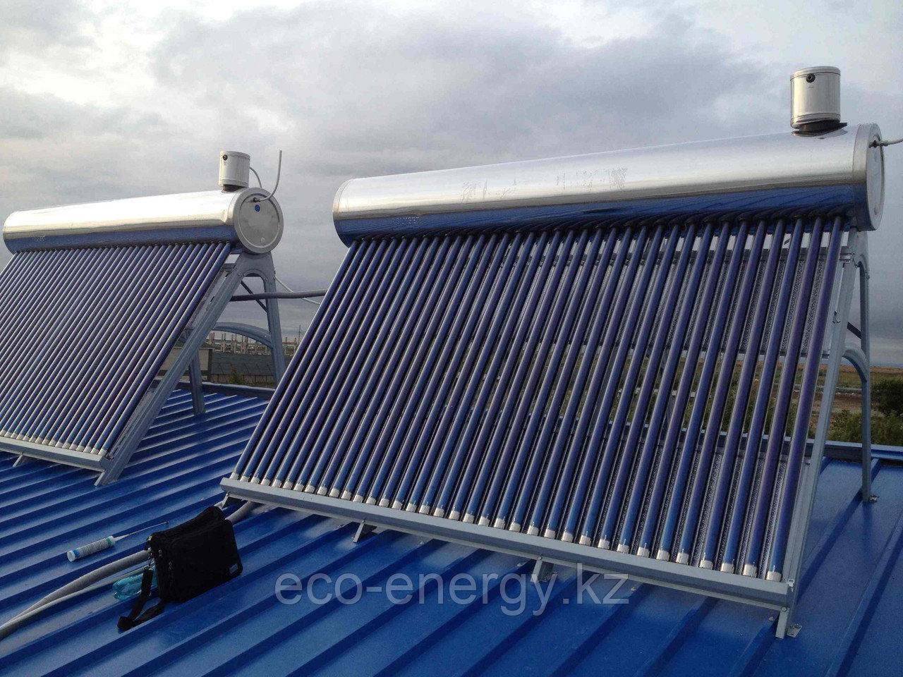 Солнечный водонагреватель 300л, 36 вакуумных трубок