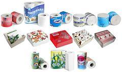 Бумажные салфетки, туалетная бумага