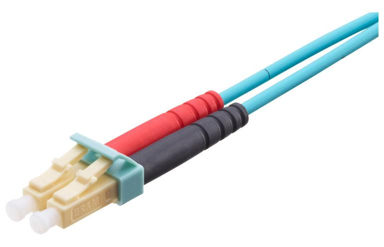 Коммутационный кабель R323063 LC-Duplex PC, beige/turquoise, OM3, Bm/3, F8 2.0x4.1mm, 1 m