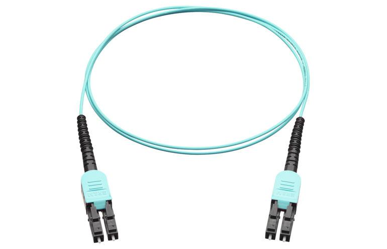 Коммутационный шнур R832983 LC-QR Uniboot PC, black/turquois, OM3, Am/2, Twinfiber cable 1.4mm, 3m
