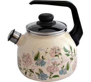 """Чайник эмалированный со свистком """"Buket"""" 2 литра"""