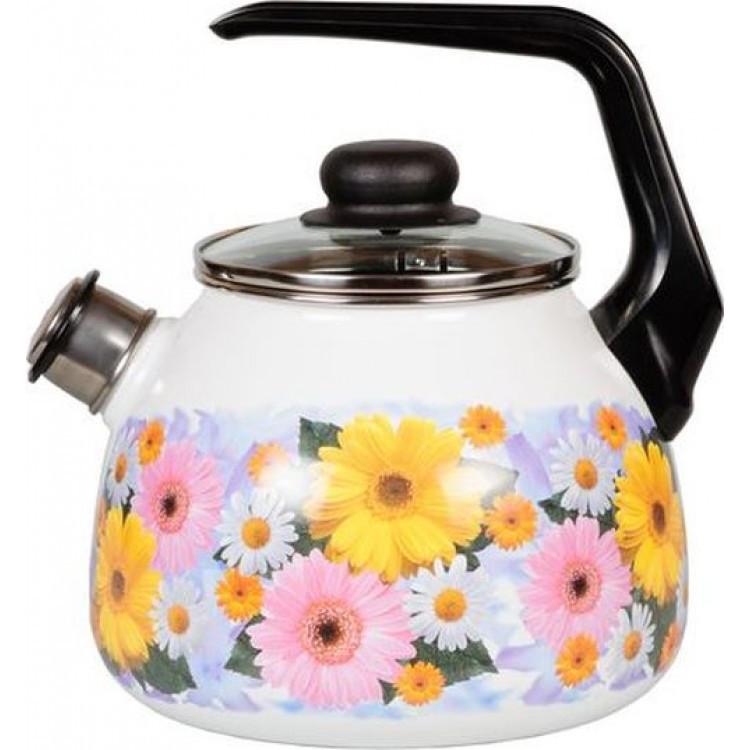 Чайник эмалированный со свистком Fernanda 2 литра
