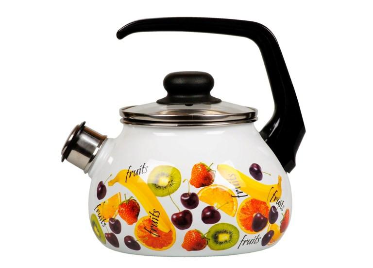 Чайник эмалированный со свистком Fruit 3 литра