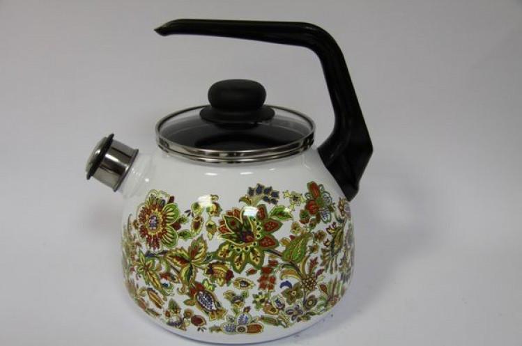 Чайник эмалированный со свистком Imperio 3 литра