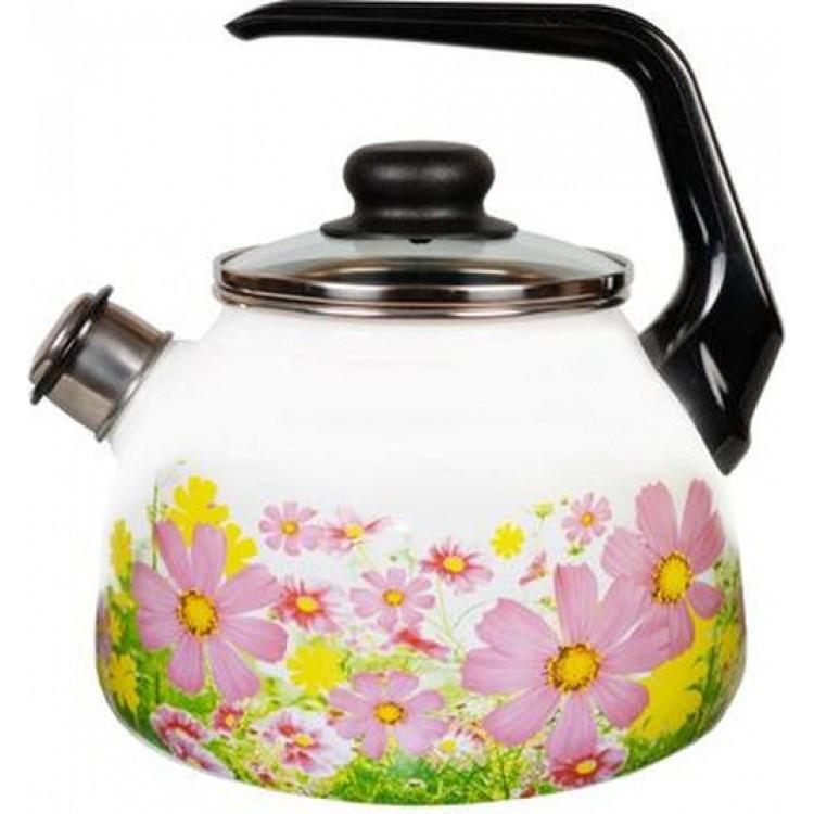Чайник эмалированный со свистком Verano 2 литра