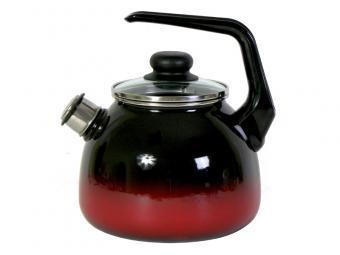 Чайник эмалированный со свистком Кармен 2 литра
