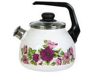 Чайник эмалированный со свистком Violeta 2 литра
