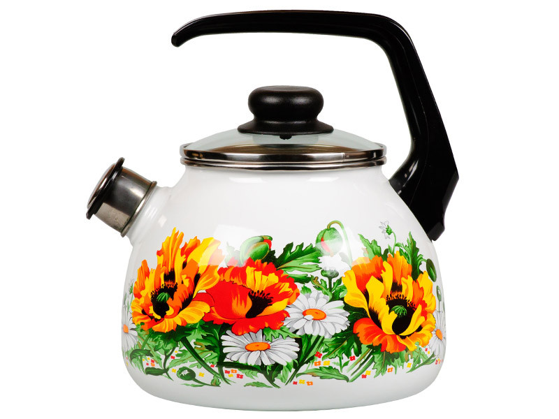 Чайник эмалированный со свистком Floristeria 3 литра
