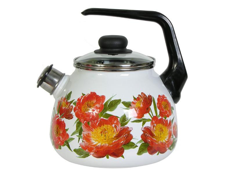 Чайник эмалированный со свистком Peony 3 литра