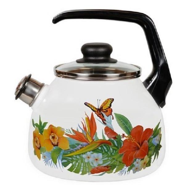 Чайник эмалированный со свистком Tropicana 3 литра