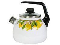 Чайник эмалированный со свистком Limon 3 литра