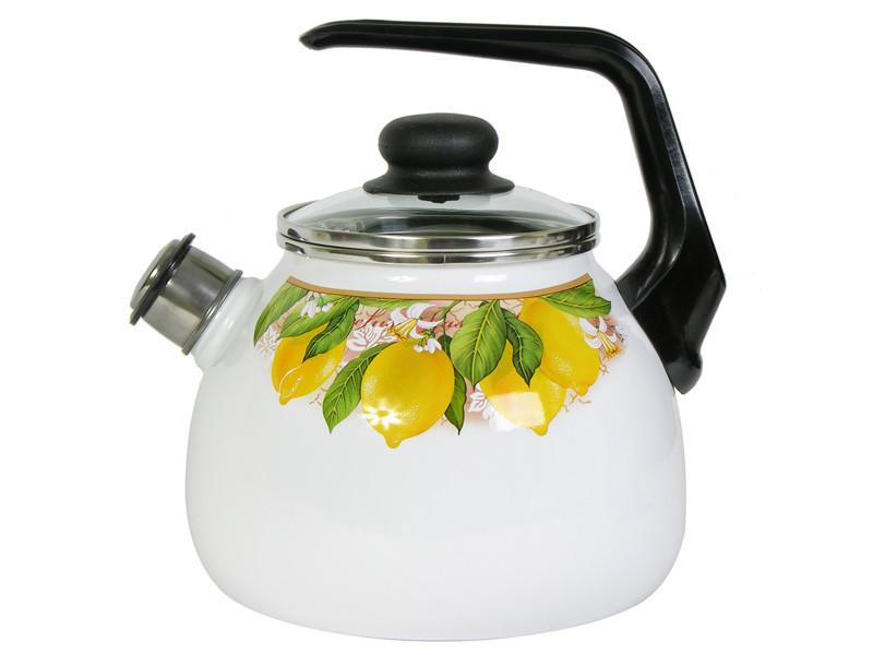 Чайник эмалированный со свистком Limon 2 литра