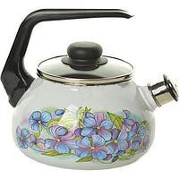 Чайник эмалированный со свистком Фиалка 3 литра