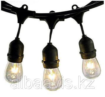 Гирлянды светодиодные, гирлянда светодиодная белт лайт  belt light. 3 патрона на метр. Гирлянды для кафе