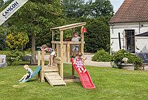 Детская игровая деревянная площадка КАСКАД@CASCADE С 2-МЯ ГОРКАМИ