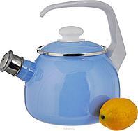 Чайник эмалированный со свистком Лазурит 2.5 литра