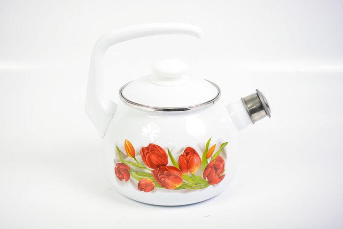 Чайник эмалированный со свистком Ласковый май 2.5 литра