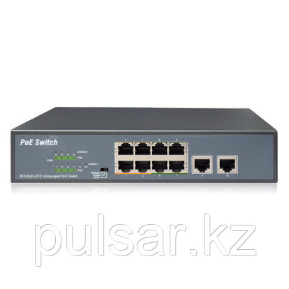 Коммутатор UNIPOE PM3010FSN (8 PoE + 2 Uplink)